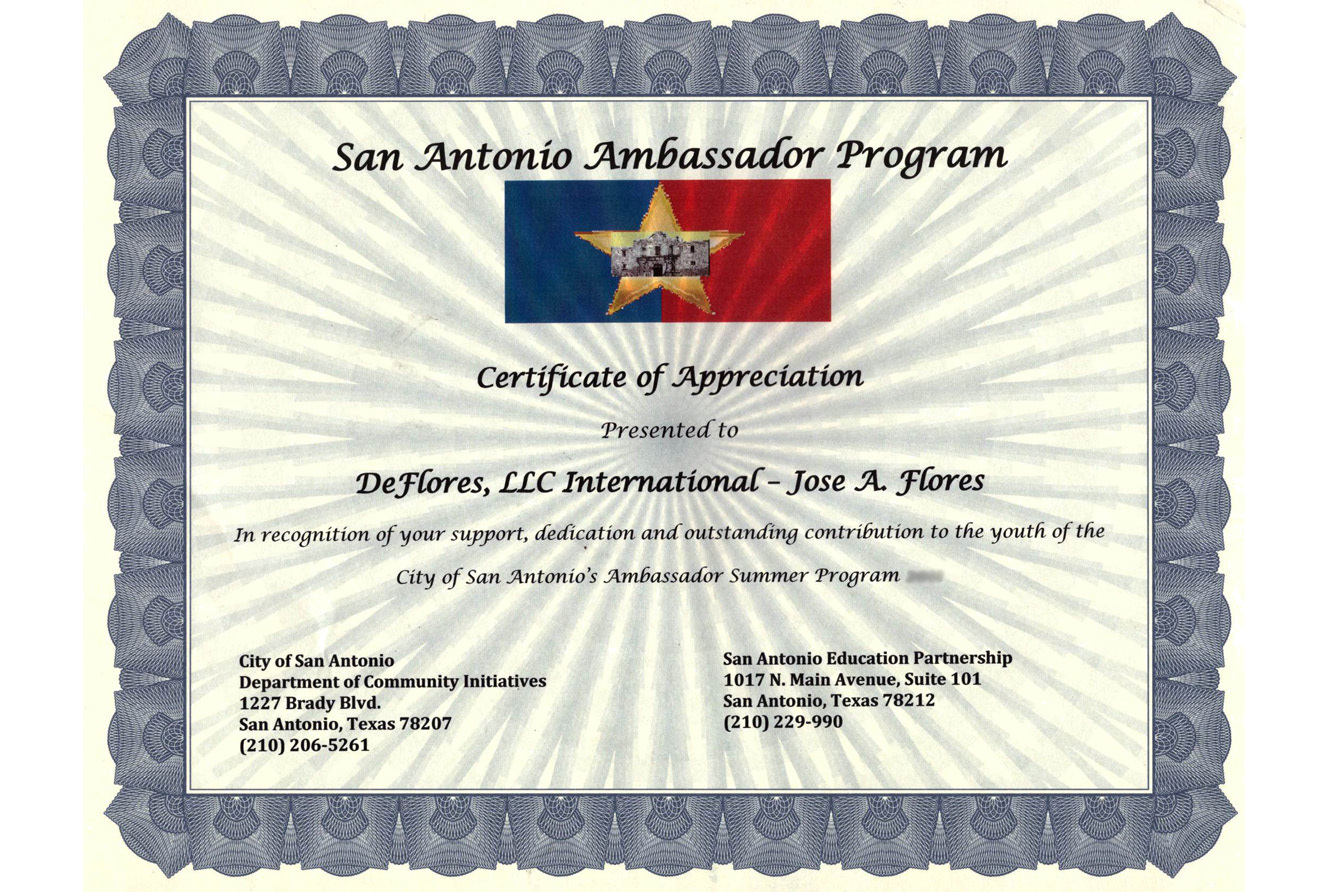 San Antonio Ambassador Program